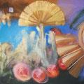 futilidad, acrilico sobre lienzo, 200cm x 90cm