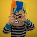 Monstermasken aus Papiertüten - selbst gemachte Deko für Kinderparty und Kindergeburtstag