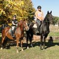 Die Familie beim Training