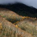 11月中旬・焼岳に落ちる影・上高地