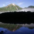 6月上旬・朝もやの大正池