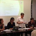 Der Vorstand: Marina, Nina, Erika und Jacqueline