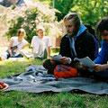 """2008, Andreas Stichmann und Finn-Ole Heinrich beim """"Prosanova""""-Festival, Hildesheim"""