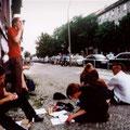 """2001, Berlin, """"Reisausz""""-Tour"""