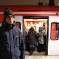 Kein Platz mehr in der S-Bahn.