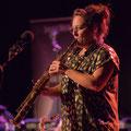 Høst : Carla Gaudré, saxophone soprano. Festival JAZZ360, vendredi 4 juin 2021, Cénac. Photographie © Christian Coulais