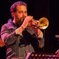 Høst invite Nicolas Gardel, trompette. Festival JAZZ360, vendredi 4 juin 2021, Cénac. Photographie © Christian Coulais