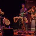 Høst invite Nicolas Gardel; Nicolas Gardel, Pierre Terrisse, Carla Gaudré. Festival JAZZ360, vendredi 4 juin 2021, Cénac. Photographie © Christian Coulais