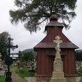 Uście Gorlickie - drewniana kaplica cmentarna z  XVIII w. fot. Edward Szura