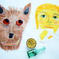 "Hauptfiguren-Bildpuzzle und Assoziationsobjekte - ""Winn-Dixie"", Kate DiCamillo"