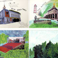 """4 x """"Paradiesflecken"""" - Postkarten-Edition"""