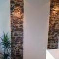Wandgestaltung mit Kunststeinpaneel M-054 Trockenstein braun