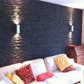 Wandverkleidung mit Steinpaneel Lajastein Sonderton Schiefer grau