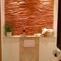 Wandverkleidung mit Kunststeinpaneel Schiefer Sonderton Kupfer