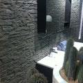 Wandverkleidung mit Steinpaneel M-097 Lajastein grau