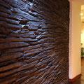 Wandverkleidung mit Kunststeinpaneel M-095 Schiefer schwarz