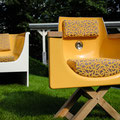 Villa nuova-Manufaktur: Loungesessel aus recyclter Badewanne