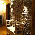 Wandverkleidung mit Kunststeinpaneel M-093 Schiefer zweifarbig