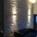 Wandverkleidung mit Steinpaneel M-098.V Lajastein creme