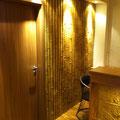 TotalDesign-Wandverkleidung M-292 Bambus ocker, Deckeneinbaustrahler