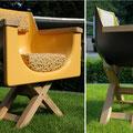 Villa nuova-Manufaktur: Loungebadewannensessel zum Chillen mit kompaktem Korpus
