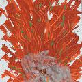 50x70cm, Acryl auf Leinwand mit Tüll