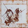 """Esterhazy entgleist"", 24x30 cm, Acryl auf Leinwand"