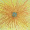 """""""Aus der Mitte kommt die Kraft"""", 50x60 cm, Acryl auf Leinwand"""