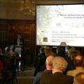 """Eröffnung der Veranstaltung durch den Leiter der """"Innovationsgruppe AUFWERTEN"""" Dr. Christian Böhm (BTU Cottbus-Senftenberg)."""