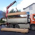 19.12.2014 - Nach 2 Monaten unbesäumte Lagerung bei Zanella, diese Woche liniert und heute nach Gampel transportiert.