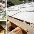 19.07.2014 - Wenn die Dächlikappe schwitzt. 1 Tonne betonartige Brandschutzplatten solo über Umwege aufs Dach tragen, bearbeiten ....... der viele Schweiss sammelt sich mitunter in der Kappe und tropft dir plötzlich voreingebückt zum Dächli runter.
