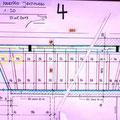 21.05.2013 - Man hat grad Zeit, zeichnet Baupläne, nix CAD, Handarbeit, das ist schneller, die Treppe, 2 Masse geben zu reden (!), ich werde vielleicht darauf zurück kommen....