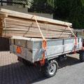 09.06.2014 - Antransport aller zum Holzbau notwendigen Materialien, so muss auch der 37jährige Muli herhalten.
