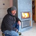 19.11.2016 - Zum ersten Mal brennt im biä-neetär Feuer. Gilbert Heldner super Arbeit!