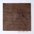 ohne Titel, 2009, Mischtechnik auf Papier, 18 x 18 cm [M116]