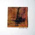 ohne Titel, 2009, Mischtechnik auf Papier, 18 x 18 cm [M016]