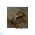 ohne Titel, 2009, Mischtechnik auf Papier, 18 x 18 cm [M084]