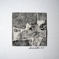 ohne Titel, 2009, Mischtechnik auf Papier, 18 x 18 cm [M028]