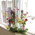 フレッシュフラワークラス 初夏の花材のパラレル