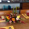 フレッシュフラワークラス ハロウィンのテーブルアレンジメント