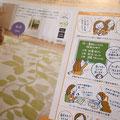dinos with2011秋冬号 ラグのページのイラスト