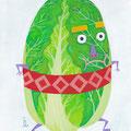 12月 「どすこい、年末だ」 季節の野菜さんたち(オリジナル/個展作品)