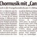 Neue Westfälische, 8. Februar 2012