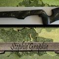 Sur crosse d'une arme de tirs sportifs (serpent) , avant vernis