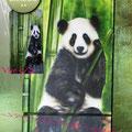 """Réalisation sur frigidaire ."""" Le Panda"""""""