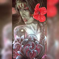 """""""Hibiscus"""" sur panneau aluminium ,dibond"""