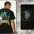 Création d'une déco. sur tee shirt ( à l'arrière)et reproduction du logo à l'avant.