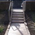 Garteneingang - Naturstein Treppe