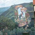Muurschildering in het stadje Leura