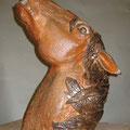 """""""Pferdekopf"""", 2009, H 60 cm, salzglasiertes Steinzeug"""